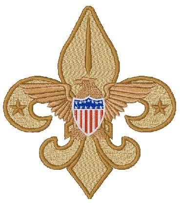 Boy Scout Emblem Head Panel Insert